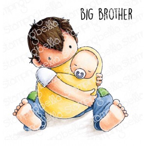 TINY TOWNIE BIG BROTHER RUBBER STAMP