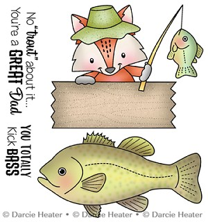 NO TROUT ABOUT IT - CLEAR STAMP