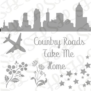 Country Roads - SFL 6X6 STENCIL