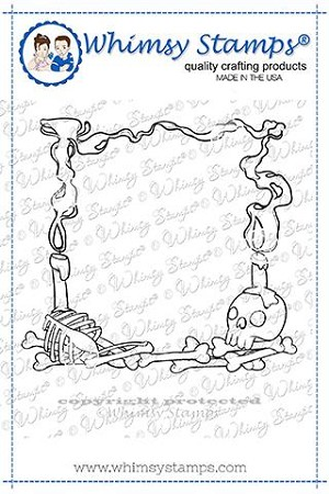 Day of the Dead Frame Rubber Cling Stamp
