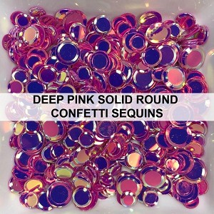 Deep Pink Solid Confetti Mix - Sequins