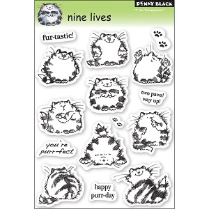 9 Lives Clear Stamp