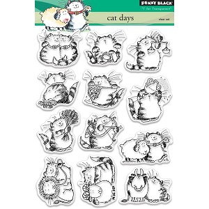 Cat Days Clear Stamp