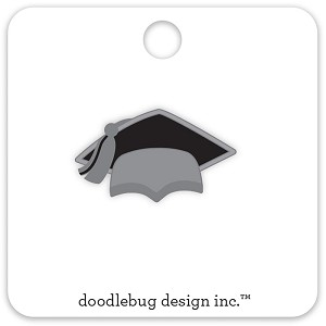 Grad Cap Hats Off Collectible Enamel Pin