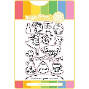 Tea Party Waffle Flower Stamp & Die Set