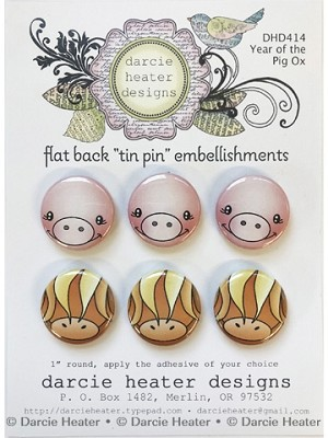 Year of the Pig - Tin Pins
