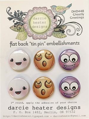 Ghostly Greetings - Tin Pins