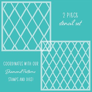 Diamond Patterns | Set of 2 Stencils