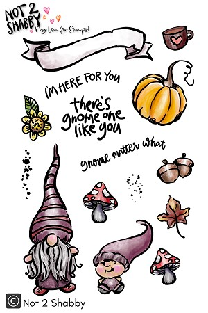 Fall Gnomes 4X6 Clear Stamp - N2S