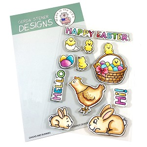 Chicks and Bunnies 4x6 Clear Stamp Set