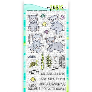 Hippo Hooray Clear Stamp