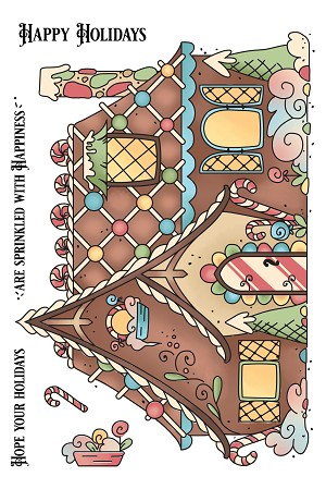 Gingerbread House Stamp
