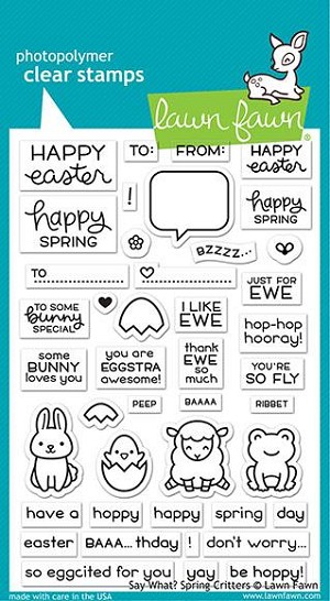say what? spring critters stamp