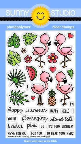 FABULOUS FLAMINGOS STAMPS