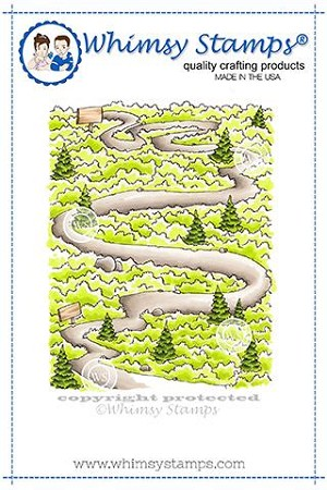 Path in the Woods Rubber Cling Stamp