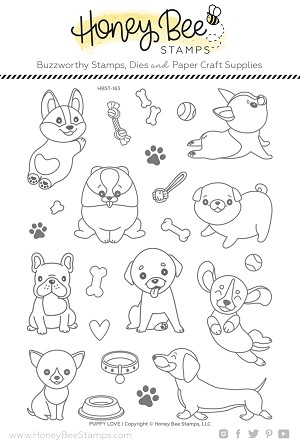 Puppy Love | 4x8 Stamp Set