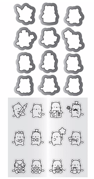 Mini Cat Agenda Mama Elephant Clear Stamp & Die Set