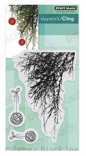 Emerald Boughs Rubber Stamp