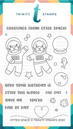 4x6 Otter Space Stamp Set