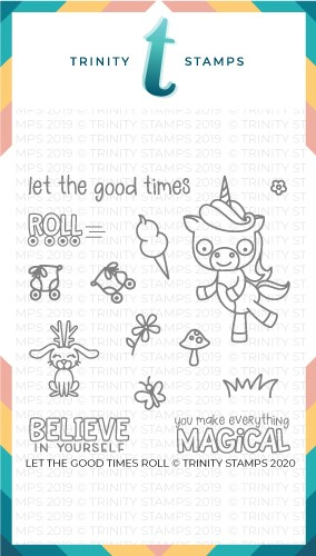4x4 Let The Good Times Roll Stamp Set