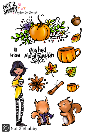 You, Me and Pumpkin Spice 4X6 Clear Stamp - N2S
